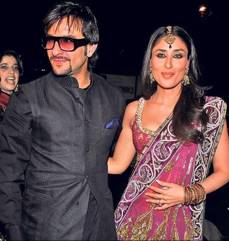 Saif Ali Khan and Kareena Kapoor at Amrita Arora and Shakeel Ladak Wedding